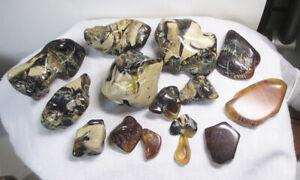 Bernstein - Amber aus Sumatra poliert - 120 g +LOT+