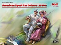 ICM 24014 - 1/24 American Sports Car Drivers (2 Figures), scale model kit