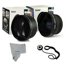 55MM PRO HD FISHEYE +MACRO + 2.2X Telephoto Lens for SONY ALPHA CAMERAS