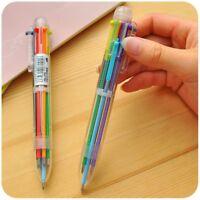 4Pcs  6 in1 Schreibwaren Stift Mehrfarbig Study.Büro Kugelschreiber Geschenk