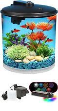 New listing Koller AquaView 2-Gallon 360 Fish Tank Aquarium with Power Filter & Led Lighting
