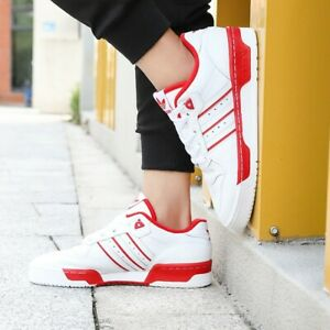 Adidas Rivalry Low Men's Leather Trainers Shoes Uk 10 Eu 44.5