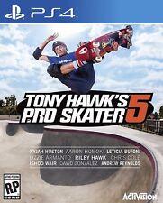 TONY HAWKS PRO SKATER 5 PS4 NEW! SKATEBOARD, SKATE STUNT, TRICK, SKATEPARK, AIR