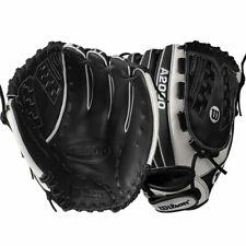 "New Wilson A2000 FV125 SuperSkin 12.5"" Fastpitch Softball Glove RHT Black White"