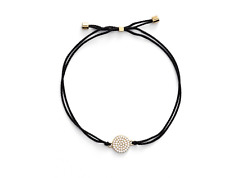 Nadri 18k Plated Crystal Disc Station Friendship Bracelet