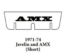 1971 1974 AMC Javelin Trunk Rubber Floor Mat (Short) Cover Kit with A-070 AMX