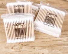 100% NATURAL BAMBOO/WOODEN COTTON BUDS MAKEUP VEGAN/ECO FRIENDLY BIODEGRADABLE