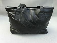 Ancien sac à main cuir de mouton noir french antique hand  bag