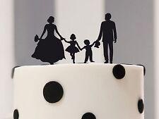 Kuchenstecker Familie, Brautpaar mit Junge und Mädchen, Cake Topper