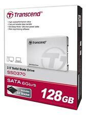 """Transcend 370s Series 2.5"""" 128GB SATA III MLC SSD 128G Internal Solid State Driv"""