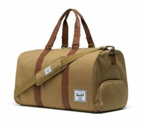 NWT Herschel Supply Co. Brand Quality Novel Duffle Bag Kelp/Saddle Brown ~ NEW