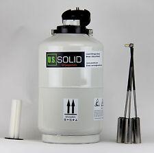 10 L Liquid Nitrogen Container Tank LN2 Storage Dewar 6 Pcs Pails U.S.Solid