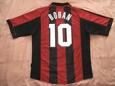 RARE AC MILAN # 10 BOBAN  HOME shirt Trikot ADIDAS 1999 2000 L OPEL 99