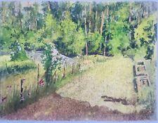 Tableau Peinture Aquarelle Paysage Jardin