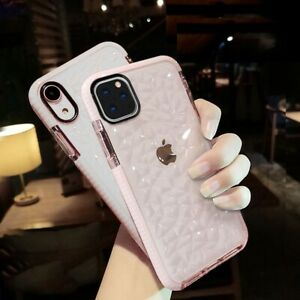 Shockproof Soft Clear Case Diamond Bumper Cover for iPhone 12 Min Pro Max 7/8/Xr