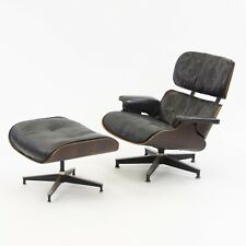 1950's Herman Miller Eames Lounge Chair & Ottoman Rosewood 670 671 Black Leather