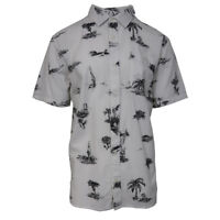 Vans Off The Wall Men's White Dive Bomb S/S Woven Shirt (Retail $49.50)