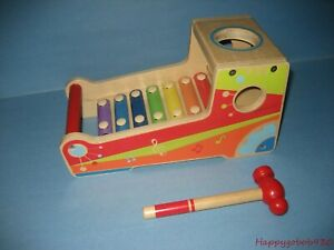 NICE Hape Holding Hand Knock Piano Xylophone Eight Piano Sound Educational Toy