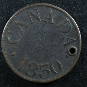 Halfpenny token Canadian Colonial #8 Free shipping Canada and the USA Week #28