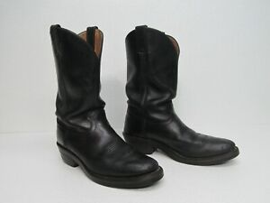 Chippewa 26791 Black Leather Western Roper Boots Size Men's 10D