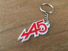 Porte clés / Keychain PVC souple Renault 5 Alpine A5 capot calandre rouge/blanc