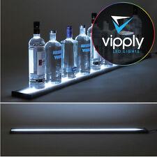 """48"""" LED Lighted Glowing Liquor Bottle Display Shelf Home Back Bar Rack Metal"""