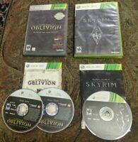 Xbox 360 ELDER SCOLLS LOT 4/5 IV V Oblivion Game of Year Edition + SKYRIM BUNDLE