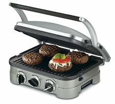 Non Stick 5n1 Panini Grill Sandwich Griddler Burger Press Toaster Waffle Healthy