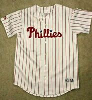 Majestic Philadelphia Phillies Chase Utley Women's Jersey Size L