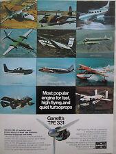 11/1973 PUB GARRETT TPE-331 OV-10 BRONCO MU-2 MERLIN METRO GOOSE SKYVAN CASA AD