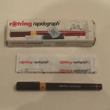 VINTAGE IN SCATOLA Rotring Rapidograph tecnico Pen 0.20mm Germania Ovest 0.2mm