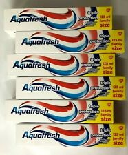 6 x Aquafresh Triple Protection Fluoride Toothpaste 125ml,Healthy&Strong.F&F