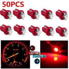 50PCS T5 1SMD Red LED B8.5D Car Gauge  Dashboard Panel Instrument Plate Light