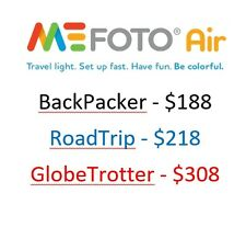 NEW Mefoto AIR Backpacker RoadTrip GlobeTrotter Tripod Bluetooth Selfie Stick