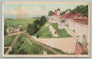 Mackinac Island Michigan~South Parapet Fort~Vintage Postcard