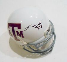 Trey Williams Signed Mini Helmet w/COA Texas A&M Aggies Football