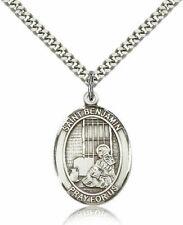 bliss Sterling Silver Saint Benjamin Medal Pendant 1 Inch