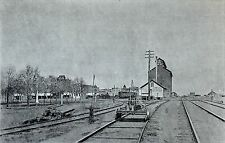 ASPECT of a STATION in a WESTERN TOWN at the end of the 19th - Heliogravure 19th