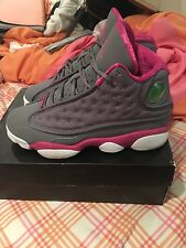 Air Jordan Retro 13 Grey And Pink Girls Size 4Y - Hard To Find! HURRY ACT FAST!