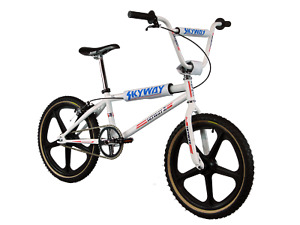 Skyway TA 20 Replica Complete BMX Bike 21.5TT WHITE/BLACK WHEEL Old School BMX