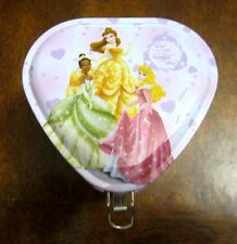 Disney Princess Tin Box with Lock and Key Heart Shaped - Party Favor - Multiples