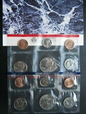 More details for usa 1997 cent ~ kennedy half ~ unc p & d 10 coin collection set ~ 2 packs ~ coa