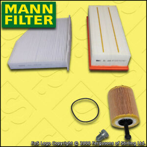 SERVICE KIT for AUDI A3 (8P) 1.9 TDI MANN OIL AIR CABIN FILTERS (2003-2012)