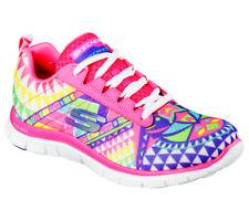 Skechers Flex Appeal Arrowhead Women's Geometric Print Memory Foam Trainers UK 4