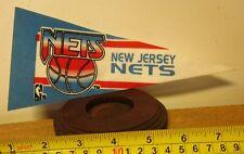 "NEW JERSEY NETS mini pennant NBA basketball Brooklyn vtg defunct 8"""