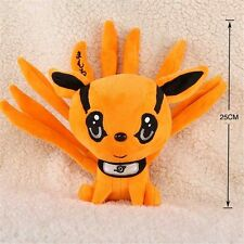 "Naruto Uzumaki Kyuubi Kurama Nine-Tales Fox Demon Anime Plush Toy Doll 25cm/10"""