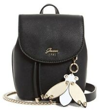 Guess NWT $68 Black Varsity Pop Mini Crossbody Shoulder Bag Purse Bee Charm Gold