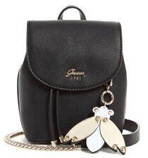 Guess NWT $68 Black Varsity Pop Mini Crossbody Shoulder Bag Purse Bee Charm Gold