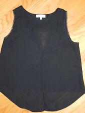Womens Black Sleeveless Lightweight Blouse (Size SMALL) Key Hole Back - NICE!!!