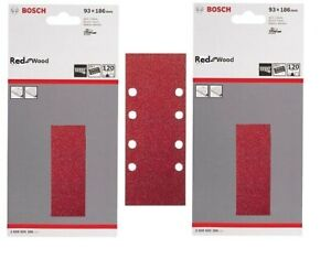 Bosch 2608605306 30 X 93x185 mm RED:WOOD 8 Hole Velco Sanding Sheets 120 Grit